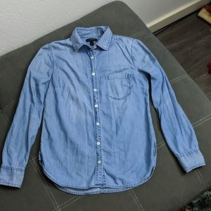 J Crew Chambray Button-Up